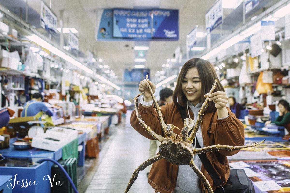 Chợ cá ở Busan