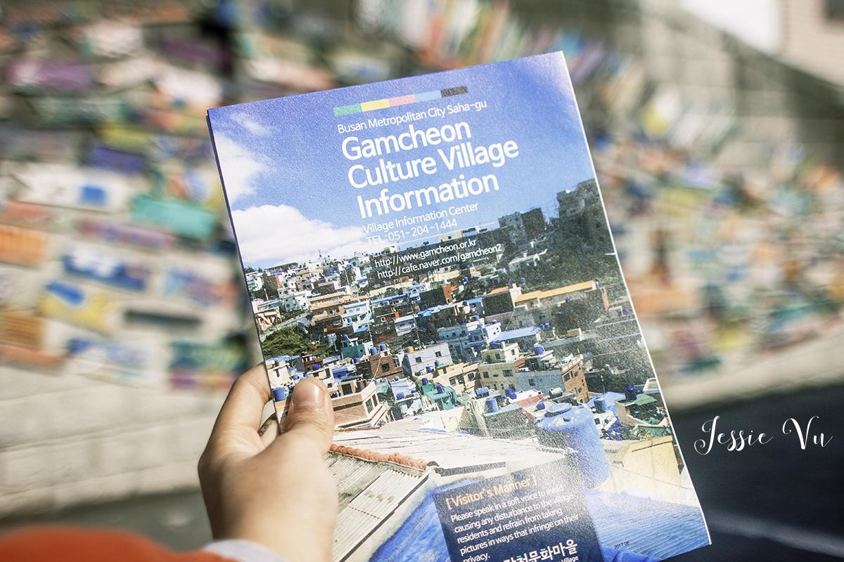 Bản đồ làng Gamcheon giá 2000 won