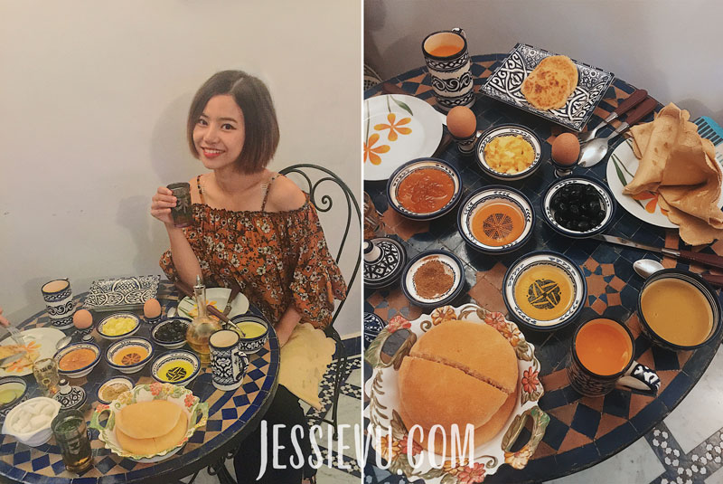 Ăn sáng ở Maroc
