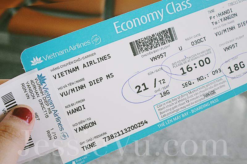 Vé máy bay Hà Nội Myanmar