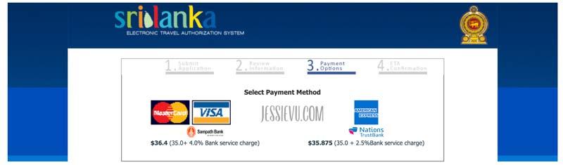 Thanh toán Visa Online Sri lanka