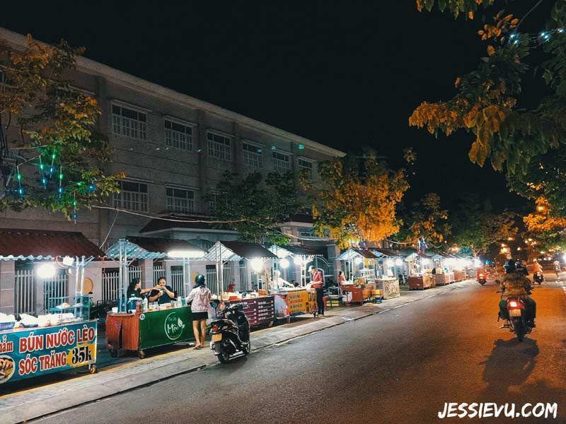 phố ẩm thực đêm Bến Tre