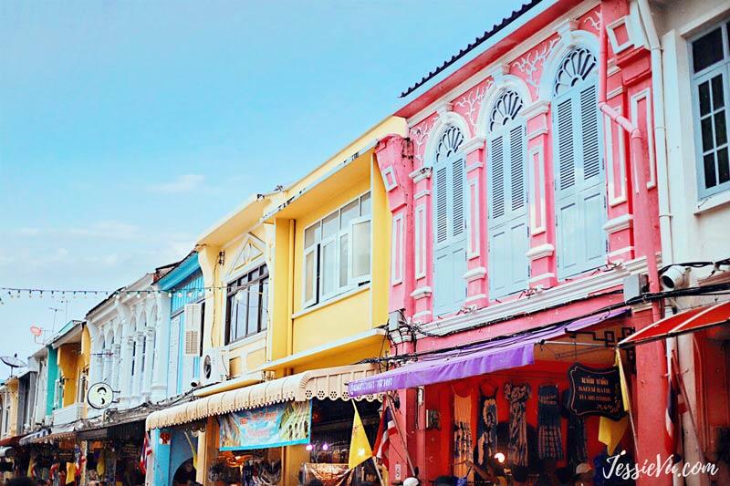 Phố cổ Phuket nhiều màu sắc
