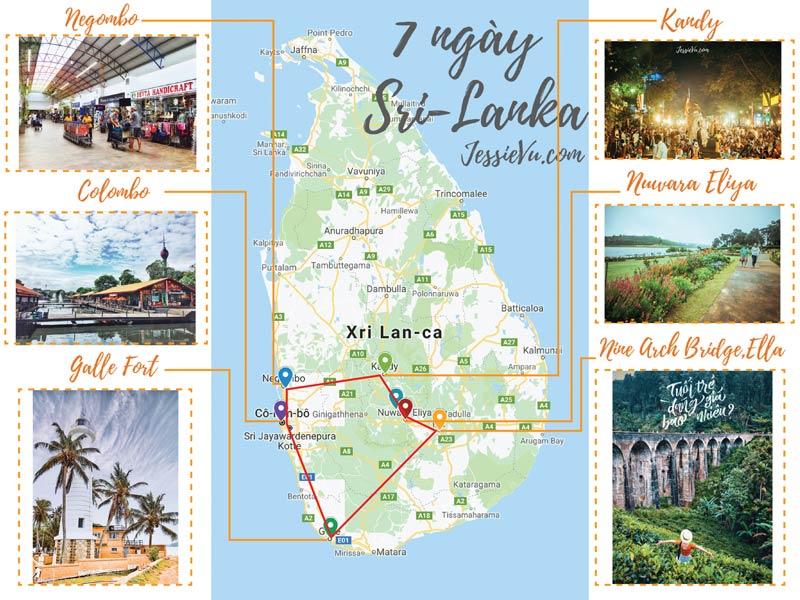 Lịch trình 7 ngày ở Sri-lanka