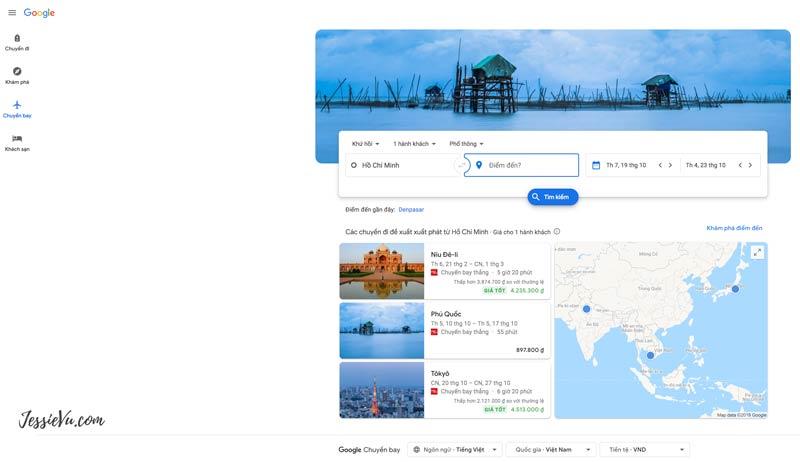 ứng dụng du lịch google flights